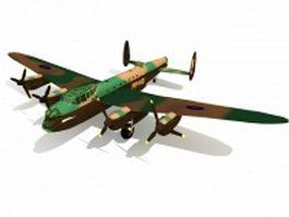 Avro Lancaster bomber 3d model preview
