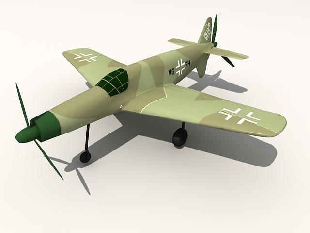 Dornier Do 335 heavy fighter 3d rendering