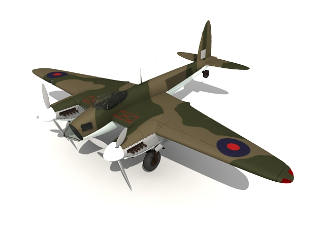 DH.98 Mosquito combat aircraft 3d rendering