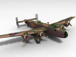 Handley Page Halifax bomber 3d preview