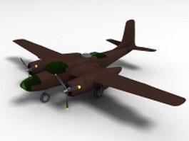 Douglas A-26 Invader Aircraft 3d model preview