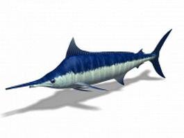 Blue swordfish 3d model preview
