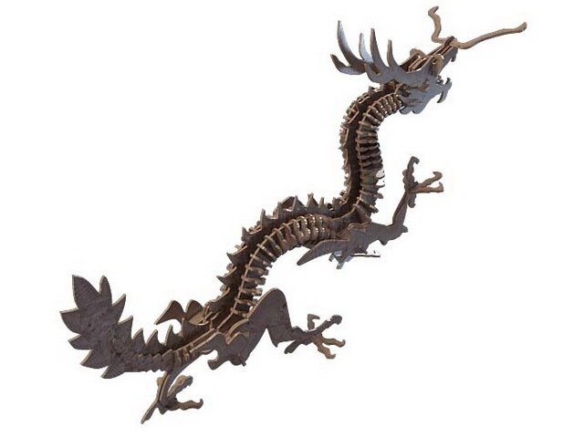 Chinese dragon toy 3d rendering