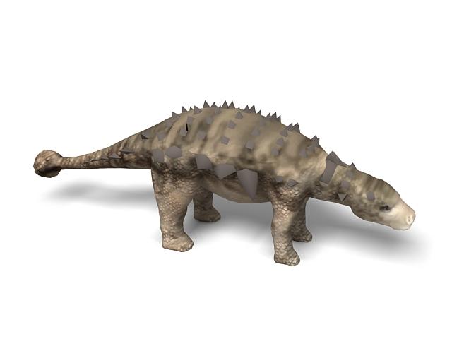 Ankylosaurus dinosaur 3d rendering