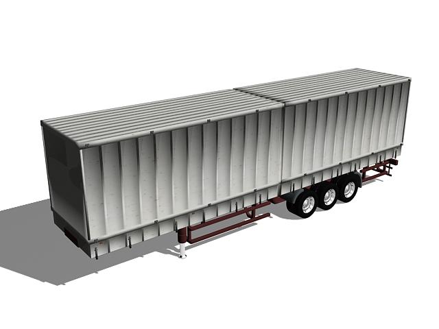 Box truck trailer 3d rendering