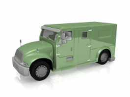 Armored bank truck 3d preview