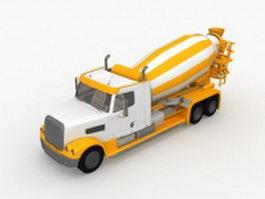 Cement mixer truck 3d preview