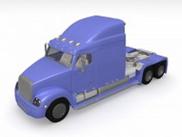 Semi truck 3d preview