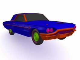 Blue muscle car 3d preview