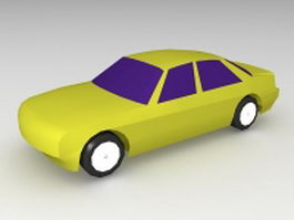 Yellow car 3d preview