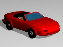 Red roadster 3d preview