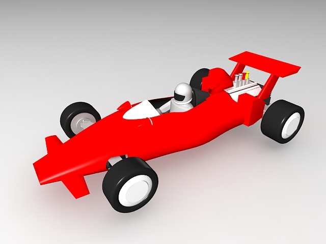 Toy F1 Car 3d rendering