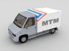 Box Van truck 3d preview