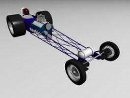 Vintage racing car 3d model preview
