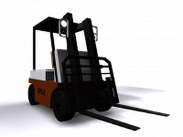 Electric forklift 3d preview