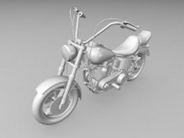 Harley motorcycle 3d model preview