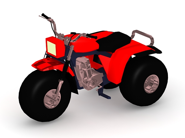 Three-wheeled ATV 3d rendering