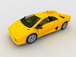 Lamborghini Diablo 3d model preview
