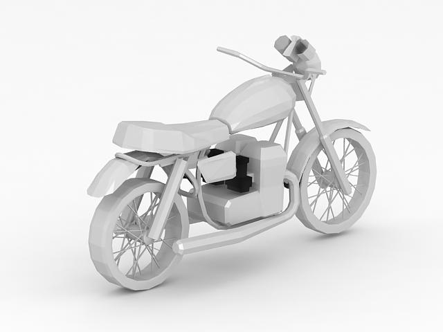Electric motorcycle 3d rendering