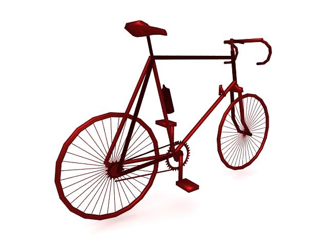 Racing bike 3d rendering