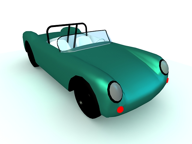 Roadster car 3d rendering