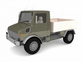 Military pick up truck 3d model preview