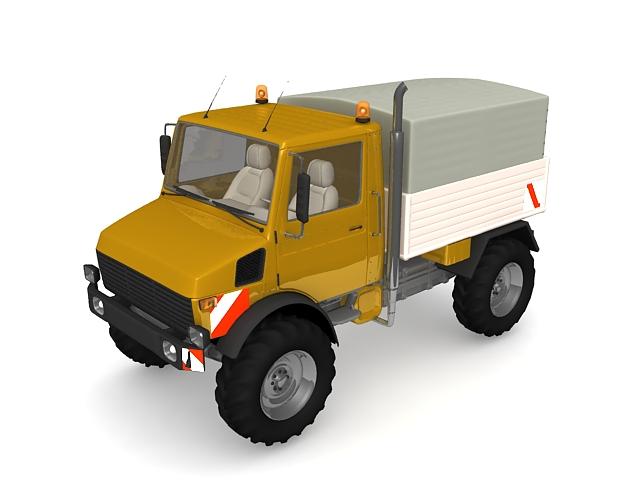 Vintage pickup truck 3d rendering