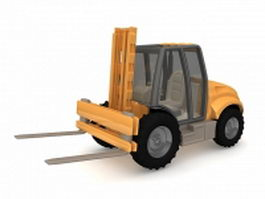 Electric forklift truck 3d preview
