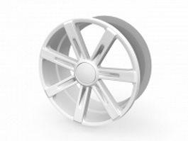 Alloy wheel rim 3d model preview