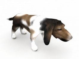 Basset dog 3d model preview