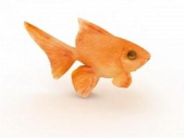 Orange goldfish 3d preview