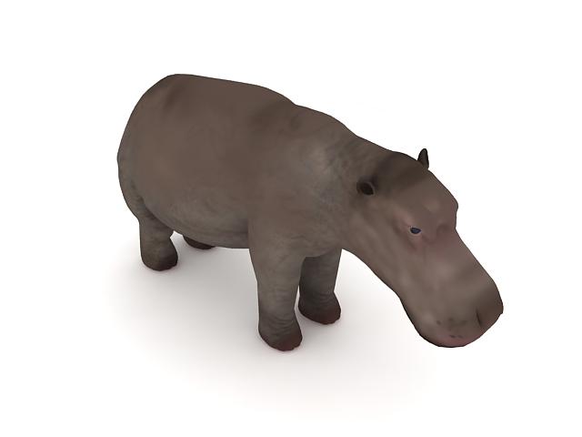 Nile Hippopotamus 3d rendering