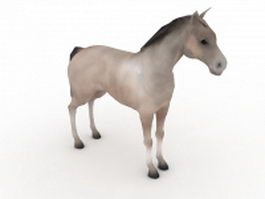 Windsor grey horse 3d model preview