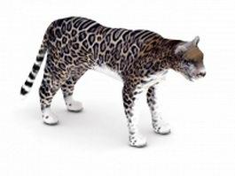 Jaguar animal 3d model preview