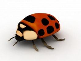 Ladybird beetle 3d model preview
