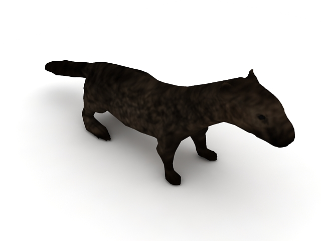 Sea otter 3d rendering