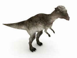 Pachycephalosaurus dinosaur 3d model preview