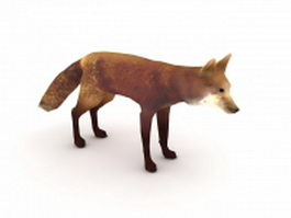 Red Fox 3d model preview