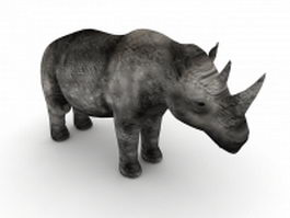 Black rhinoceros 3d model preview