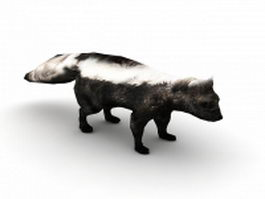 Striped skunk 3d preview