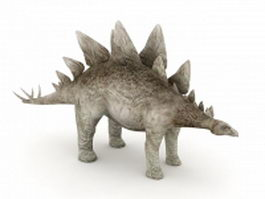 Stegosaurus dinosaur 3d model preview