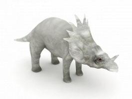 Styracosaurus dinosaur 3d model preview