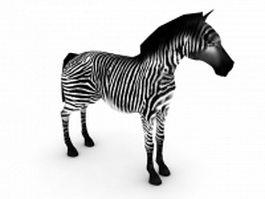 African zebra 3d model preview