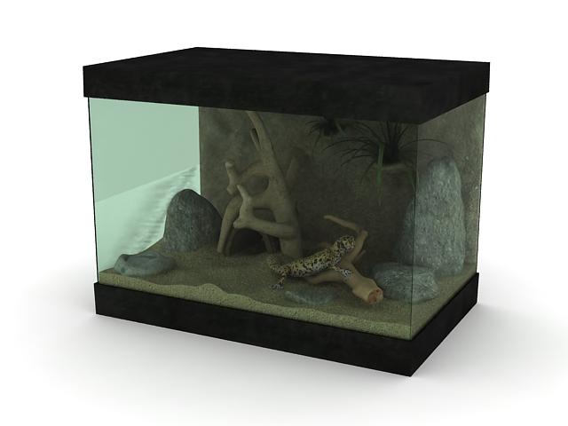 Reptile Terrarium 3d rendering