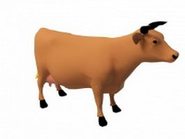 Brown dairy cow 3d preview