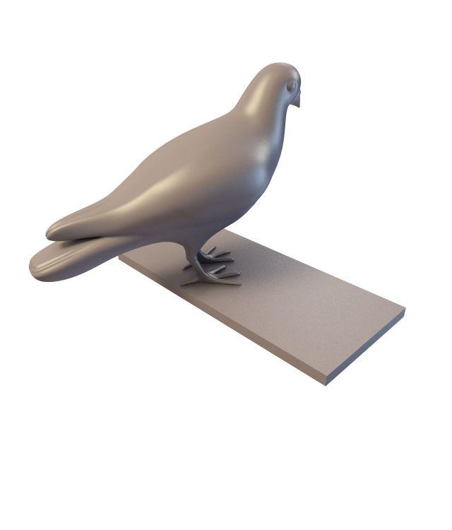 Garden dove figurine 3d rendering