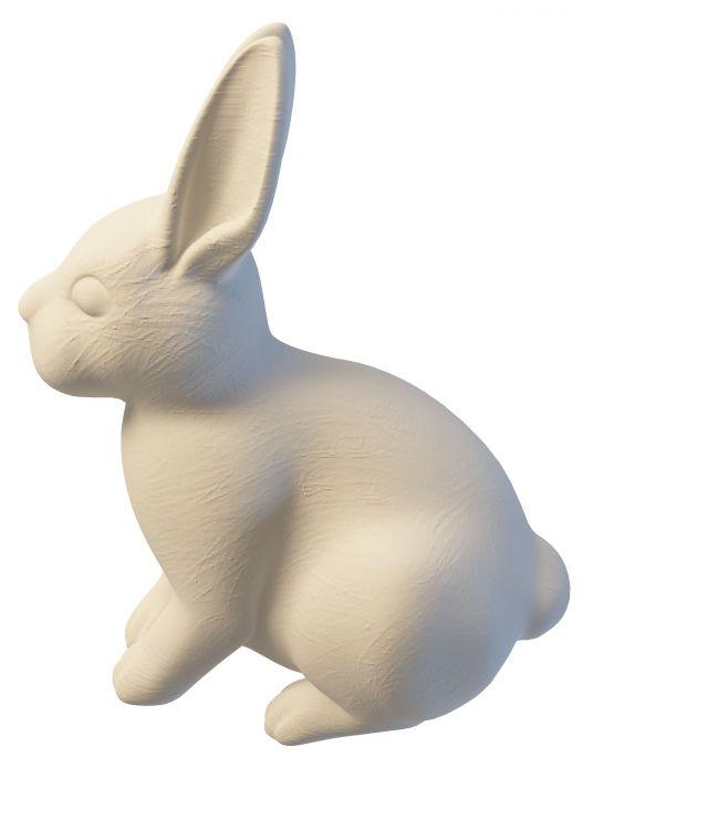 Rabbit yard statue 3d rendering