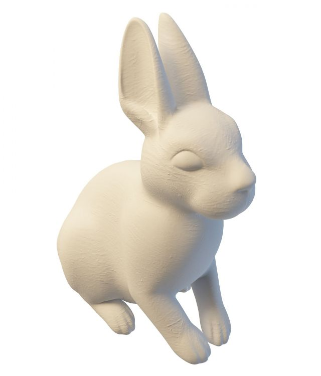 Rabbit yard statue 3d rendering