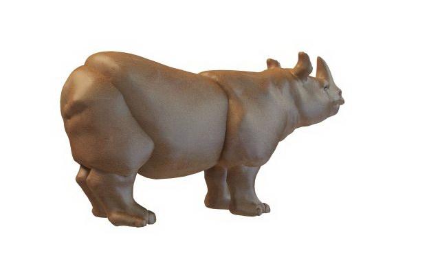Rhinoceros statue 3d rendering