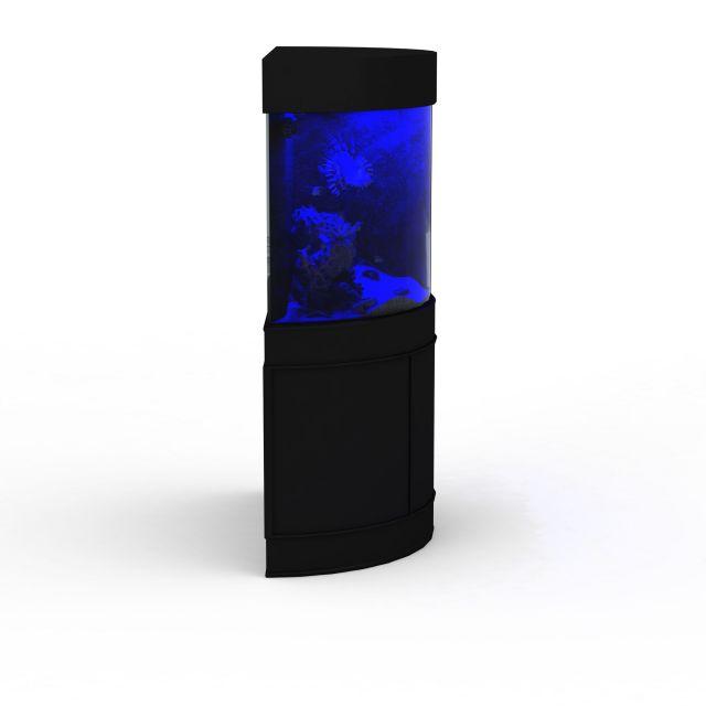 Aquarium tank and stand 3d rendering